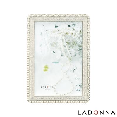日本 LADONNA Bridal 華麗珍珠4x6相框 MJ46-P-WH
