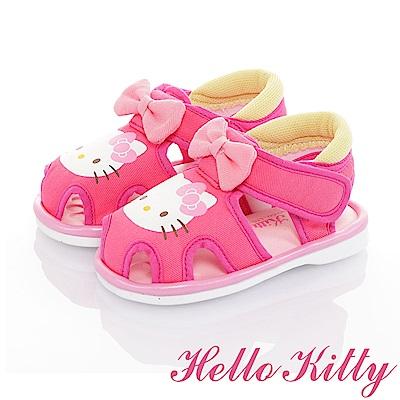HelloKitty 輕量減壓吸震寶寶學步嗶嗶涼鞋童鞋-桃