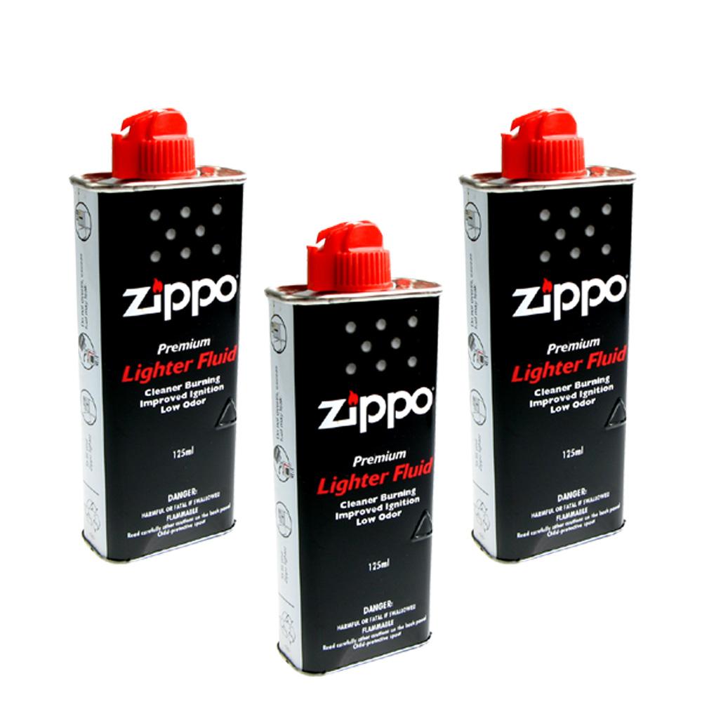 【ZIPPO】原廠專用打火機補充油~3罐優惠組合