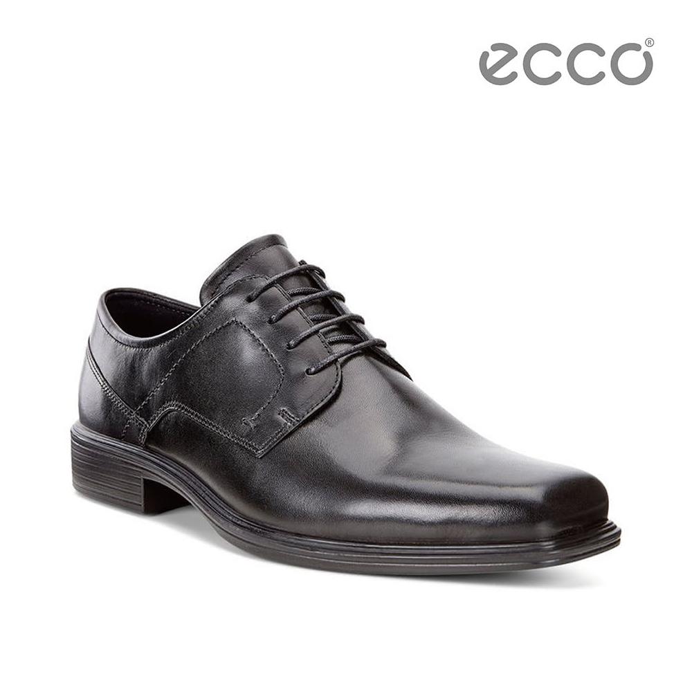 ECCO JOHANNESBURG 方頭時尚正裝德比鞋-黑
