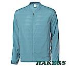 【HAKERS】男-抗UV快乾透氣外套-煙藍