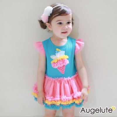 baby童衣包屁裙公主袖冰淇淋蛋糕裙42176