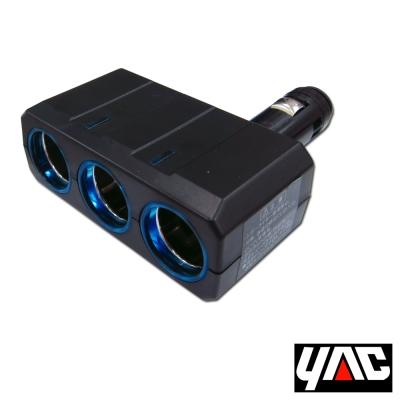 YAC可90度調整LED燈三孔插座(PZ-507)-快