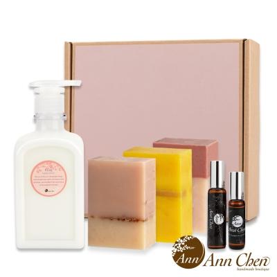 陳怡安手工皂-甜蜜玫瑰香氛六入粉紅禮盒(提袋)