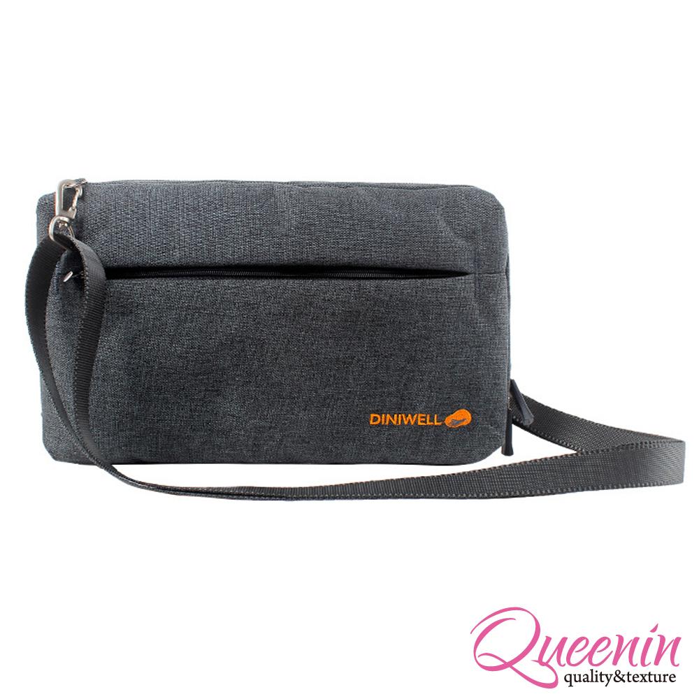 DF Queenin - 韓版高質感旅行專屬側背包-灰色