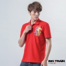 BIG TRAIN 花柄怒虎POLO衫-男-紅色