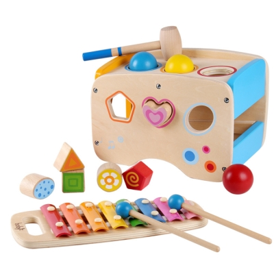 【ω-o2d】boby木製三合一敲琴敲打台(1y+)