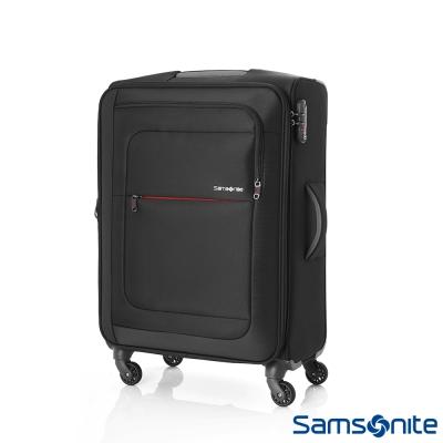 Samsonite新秀麗 24吋Populite四輪TSA超輕量可擴充布面行李箱(黑)
