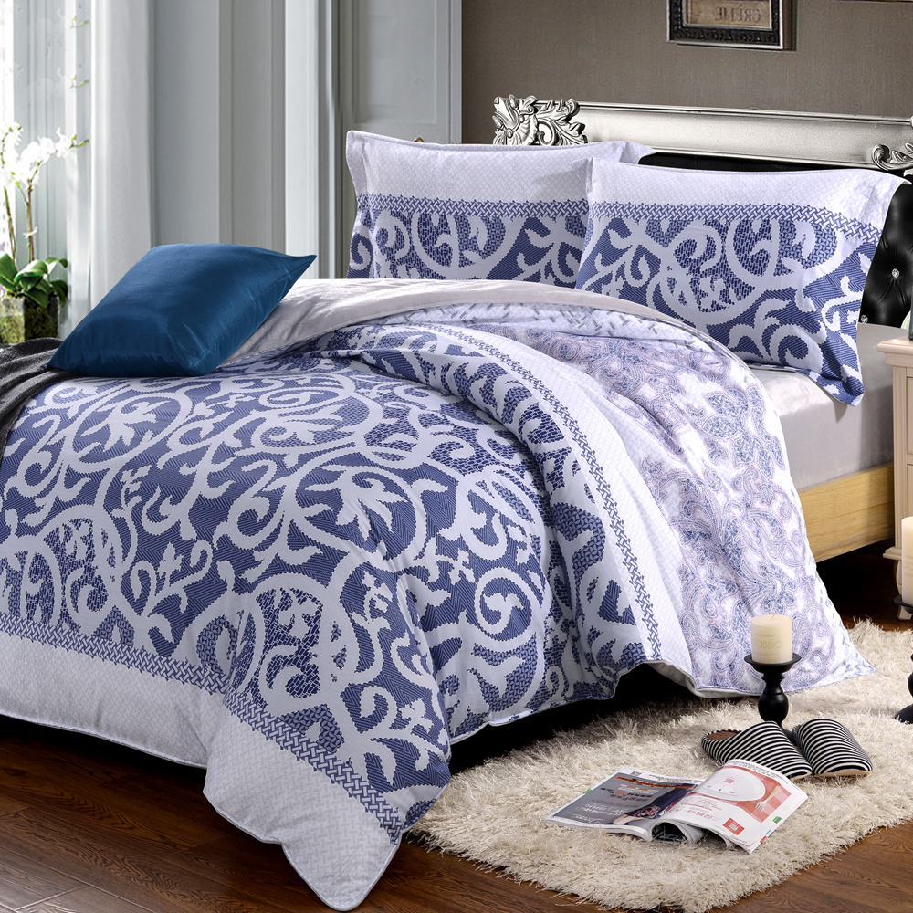 HOYACASA藍調魅影 加大四件式芯舒絨兩用被床包組
