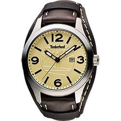 Timberland Moringa 風範時尚腕錶腕錶-黃x咖啡/46mm