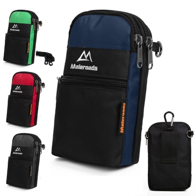 Maleroads 多功能簡約設計 運動腰包 單斜肩包 適用6吋手機 鑰匙 物品收納