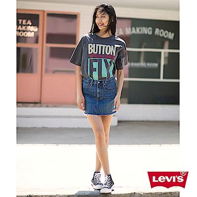 Levis T恤 女裝 短袖純棉TEE 經典501印花 黑色