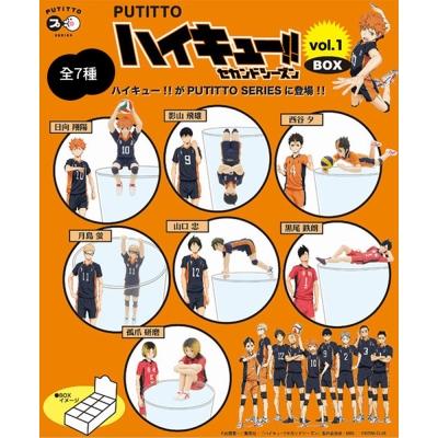日本正版授權 整盒8入 排球少年 P1 第一彈 杯緣子 盒玩 裝飾 PUTITTO
