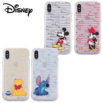 Disney迪士尼iPhone X手繪條紋防摔氣墊空壓保護套