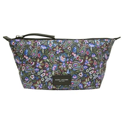MARC JACOBS Garden Paisley 印花尼龍化妝包-多彩紫(大)