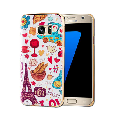 VXTRA Samsung Galaxy S7 5.1吋 電鍍浮雕 彩繪手機殼(...