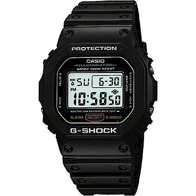 CASIO卡西歐 G-SHOCK 經典DW-5600系列電子腕錶-黑/42mm