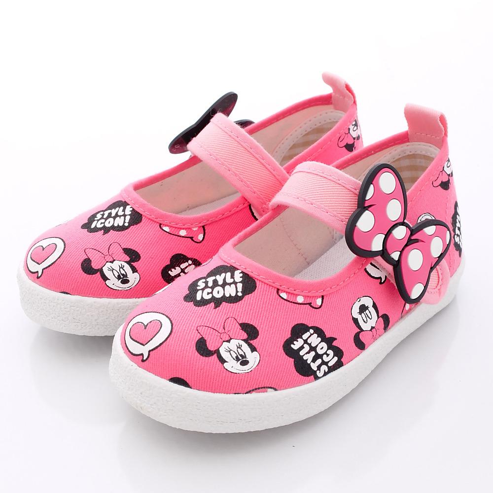 迪士尼童鞋-甜心米妮娃娃鞋款-FO64408桃中小童段HN