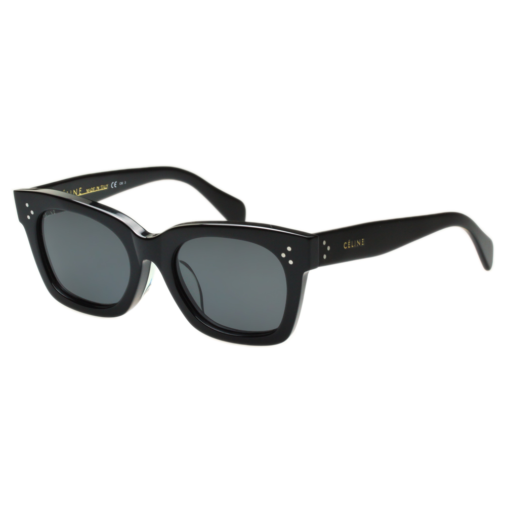 CELINE- 復古造型 太陽眼鏡 (黑色)