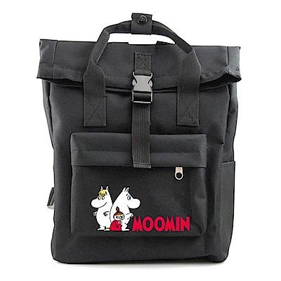 MOOMIN  05 開扣後背包(黑)