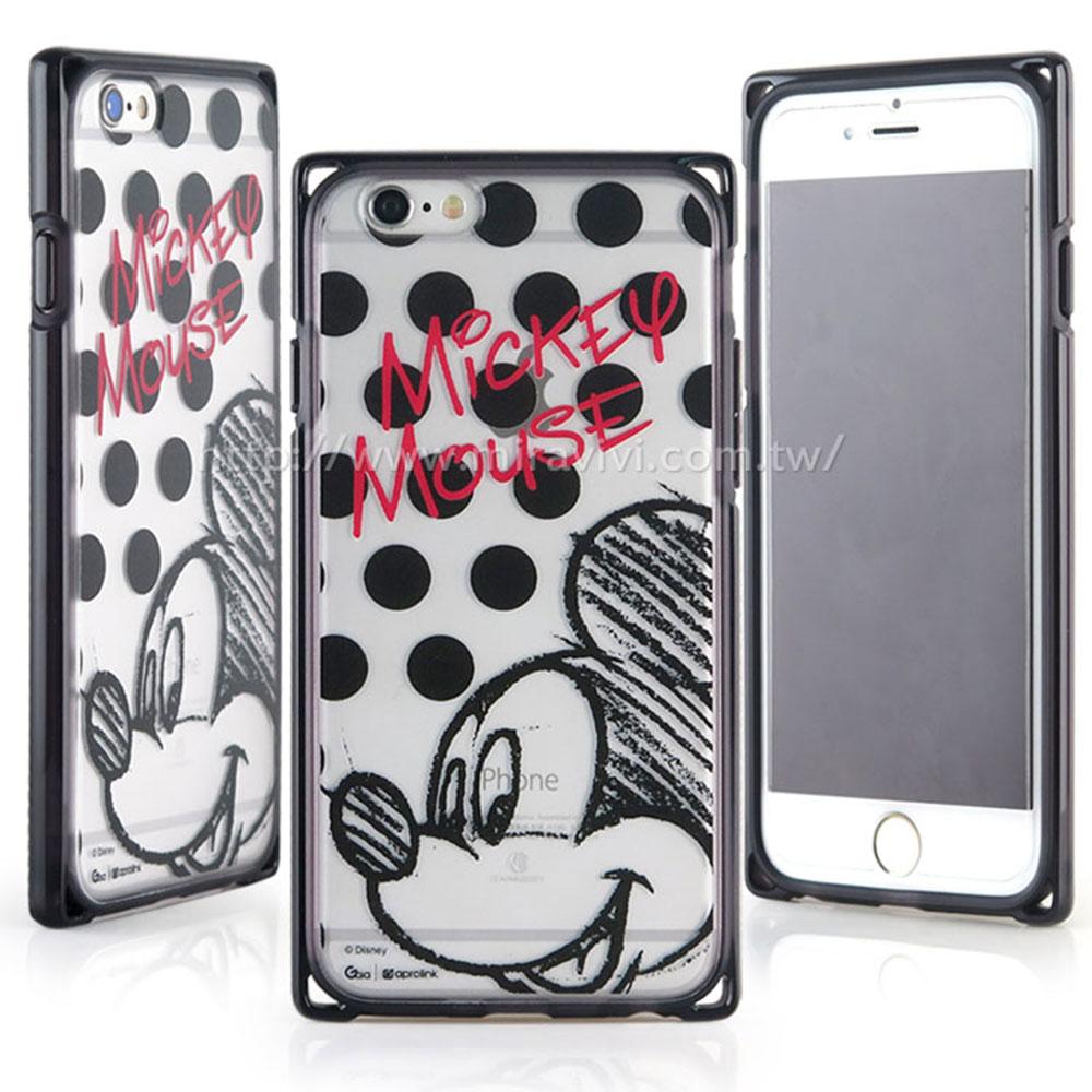 Disney iphone6 plus/6s plus耐衝擊雙料殼-點點