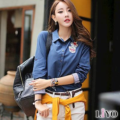 LIYO理優單寧牛仔襯衫(深藍)