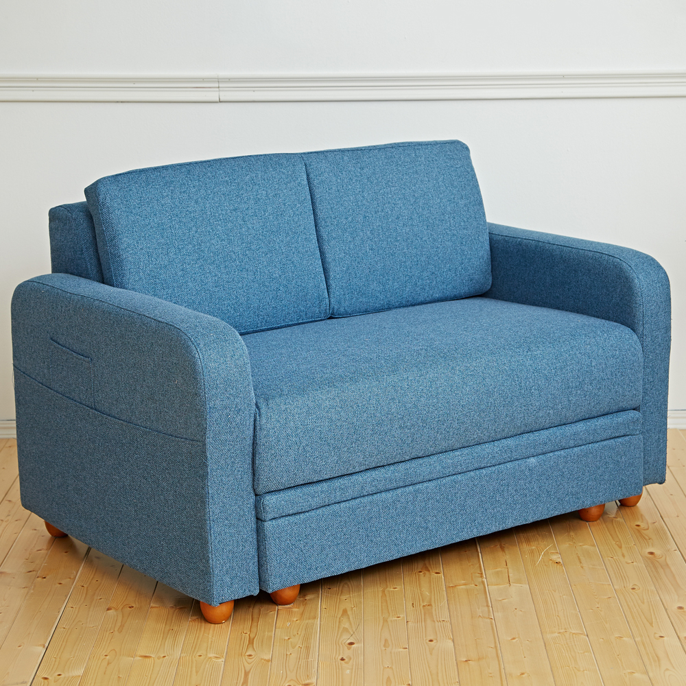 Bed Maker-踢芬尼 雙人收納多功能沙發(四色/附腳凳)