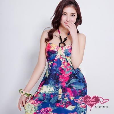 罩衫 皎潔浪漫 泳裝比基尼外搭罩衫(紫彩F) AngelHoney天使霓裳
