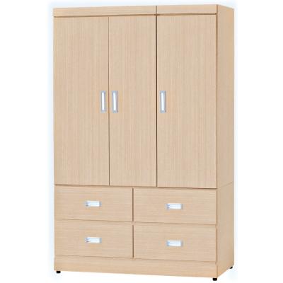 品家居 米羅3.9尺開門四抽衣櫃(兩色可選)-116x56x177cm-免組