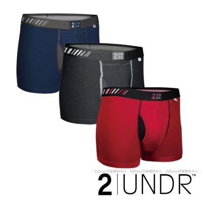 2UNDR Swing Shift 莫代爾吸排四角內褲(3吋)三入組