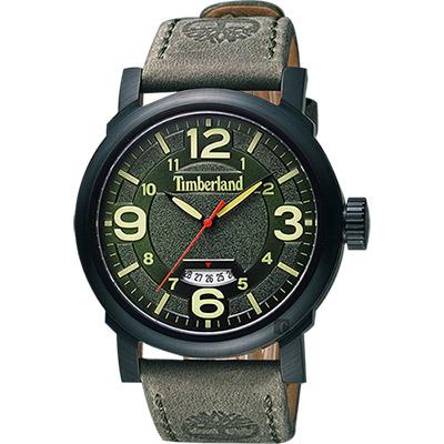 Timberland 美式風格時尚腕錶-綠/46mm