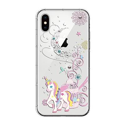 【SSTAR】iPhone X 彩繪水鑽空壓防摔殼-月光小馬