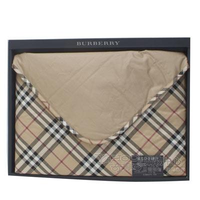 BURBERRY經典格紋羽絨小蓋毯禮盒-駝