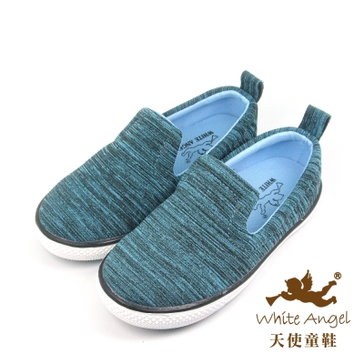 天使童鞋-KJH1629 悠活百搭懶人休閒鞋-藍
