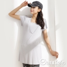 【Gennies奇妮】素面氣質春夏長版哺乳衣(GNA05)
