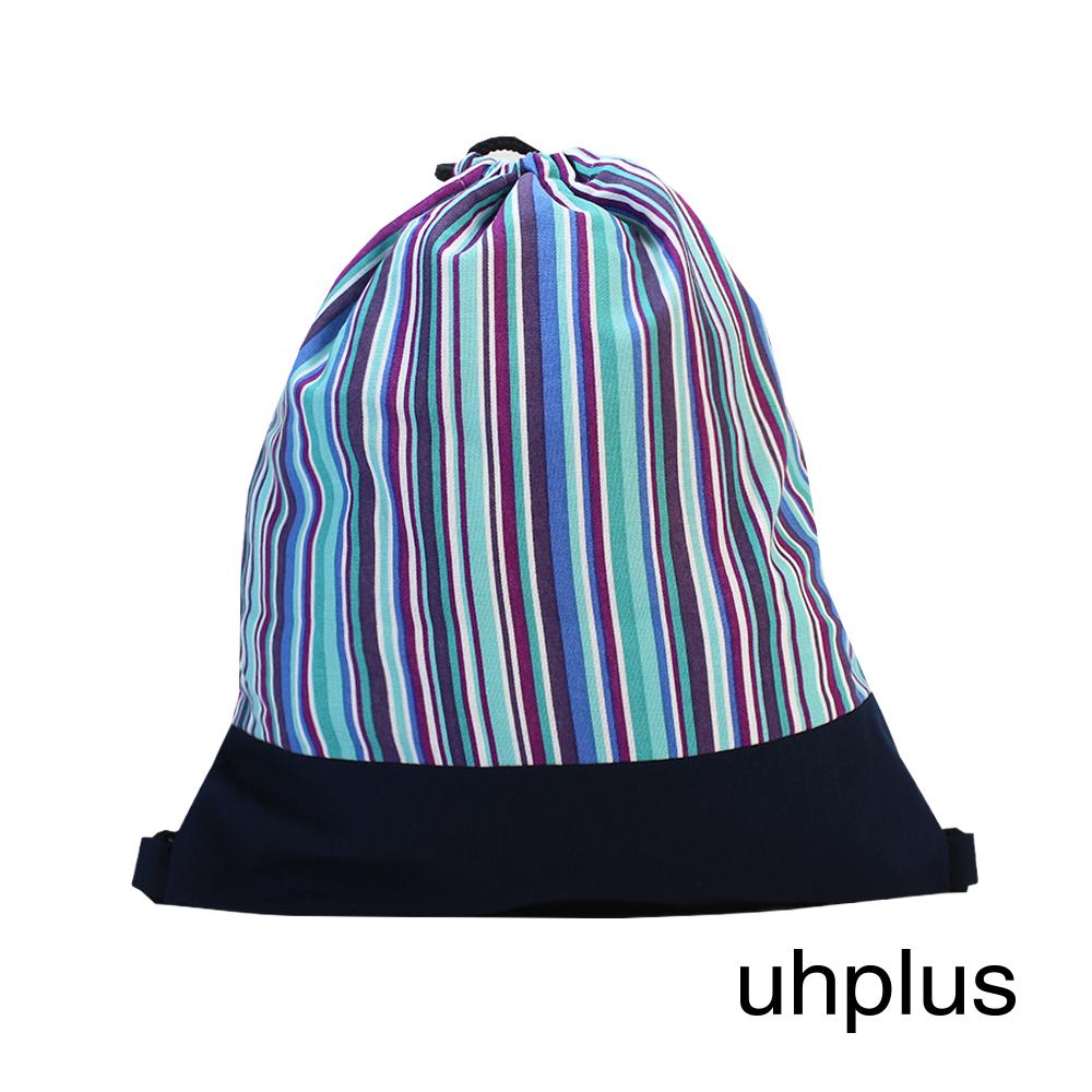 uhplus 小旅行束口背包 Basic-幸福樂章(藍)