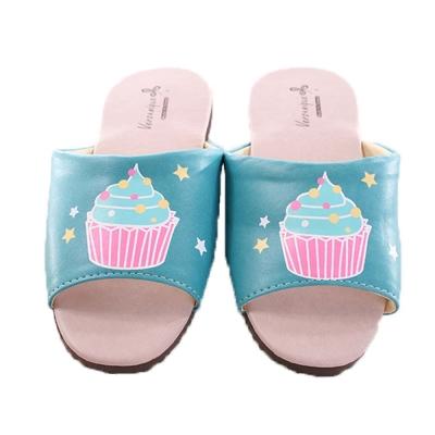 防滑靜音皮拖鞋( 2 雙一組) sd 0042  魔法Baby