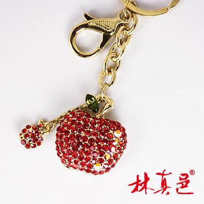 閃亮晶鑽鴻運高照蘋果鑰匙圈(含加持) 林真邑