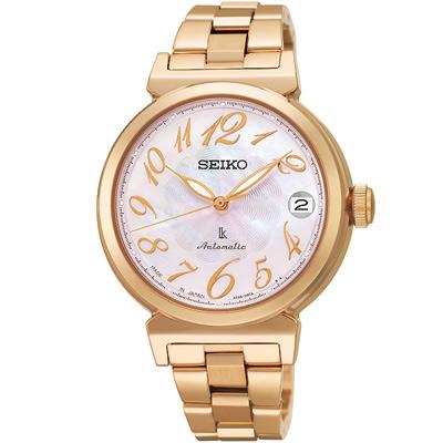 SEIKO LUKIA花漾經典機械腕錶(SRP870J1)-粉X玫瑰金/33mm
