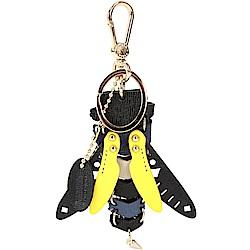 FURLA TWEET 蜻蜓造型皮革吊飾/鑰匙圈
