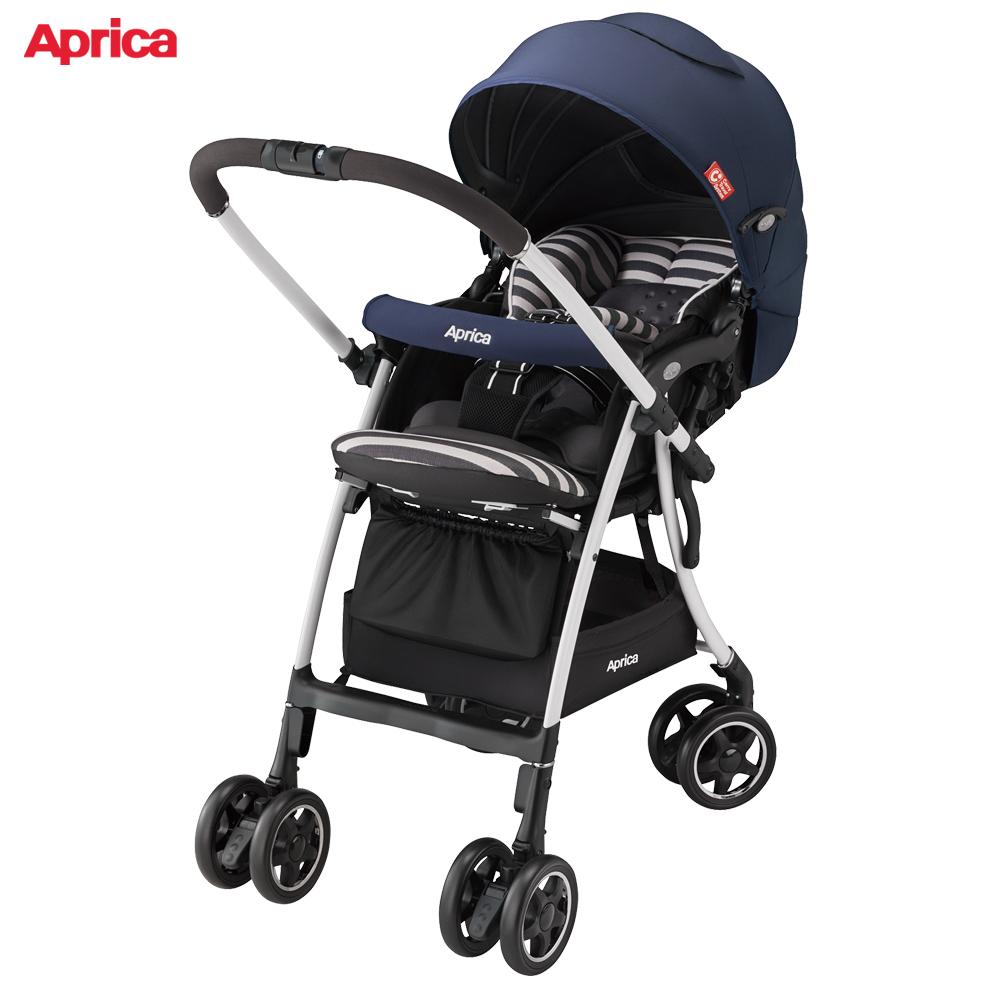 Aprica 雙向輕量型手推車 LUXUNA AD 音樂城堡 藍調和弦 @ Y!購物