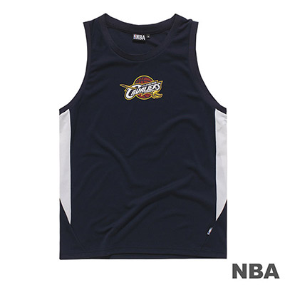 NBA-克里夫蘭騎士隊LOGO印花背心-深藍 (男)