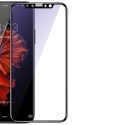 倍思 iPhone X 滿版 9H 抗藍光 曲面 高清防爆防指紋鋼化玻璃保護膜