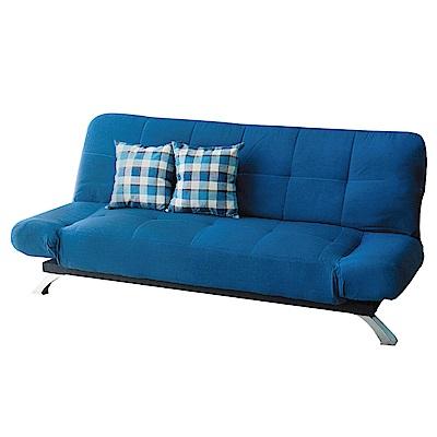 品家居 玫凱亞麻布展開式沙發床(二色可選)-195x79x83cm-免組