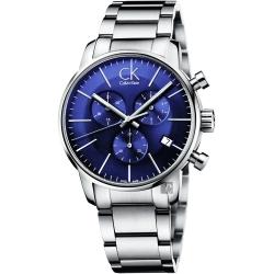 Calvin Klein CK City 都會紳士計時腕錶-藍/43mm
