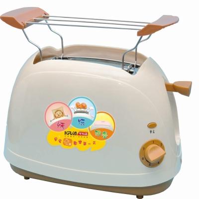 【KRIA可利亞】烘烤二用笑臉麵包機 KR-8003(咖啡色)