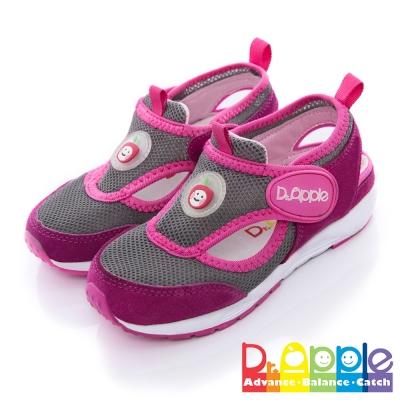 【Dr. Apple 機能童鞋】雙色拼接輕量透氣童鞋 桃
