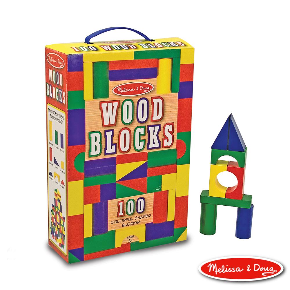 (益智任選) 彩色木製積木 - 100pcs 原價855