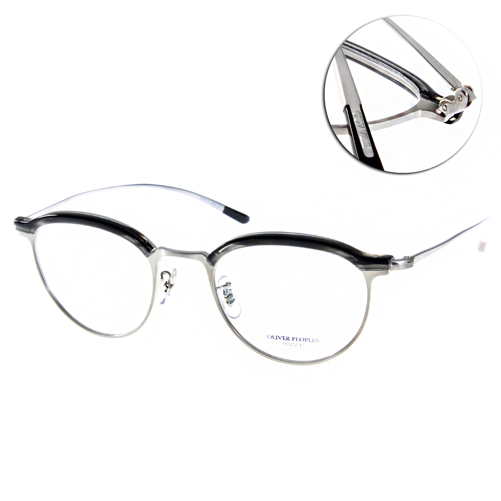 OLIVER PEOPLES眼鏡 限定復古眉框/銀黑#GOLDING 5077