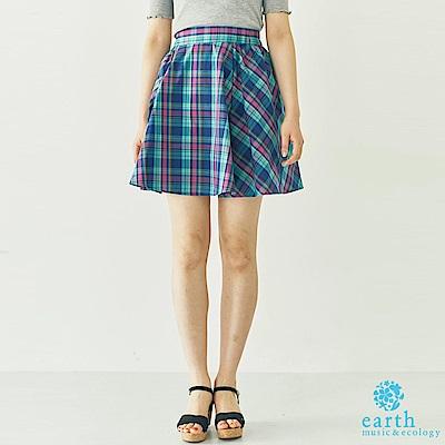 earth music 格紋配色迷你短裙